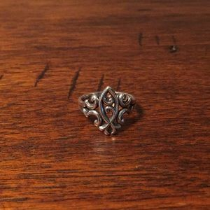 James Avery Retiring Scrolled Ichthus Ring